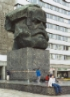 Karl Marx kopf in Chemnitz and me hanging out with the break dancing kids